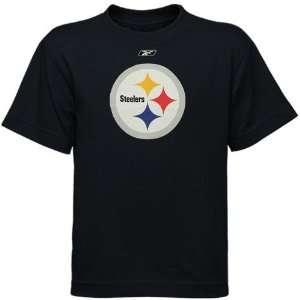 Reebok Pittsburgh Steelers Preschool Black Primary Logo T shirt (4