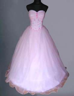 BABY PINK WEDDING/EVENING/PROM BALL GOWN DRESS ALL SIZE