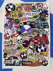 A4 Size Sticker Bombing Sheet Decal Sticker Bomb BMW Theme E30 M3 M5