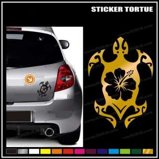 Sticker Tortue Hibiscus tribal tattoo (10x15cm)