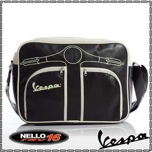 BORSA BAG TRACOLLA VESPA LAPTOP 15 NERO ORIZZONTALE OR