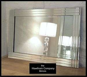 Trevina V Large Silver Bevelled Wall Mirror 40x28