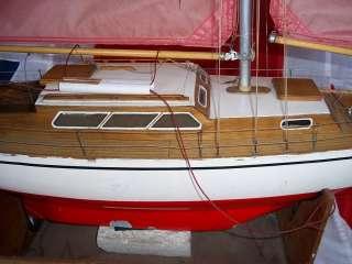 Graupner Gracia Wooden Model Yacht German c1965