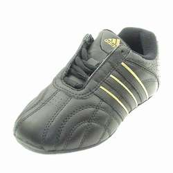 Kids ADIDAS KUNDO Trainers Black Leather Size 2½J