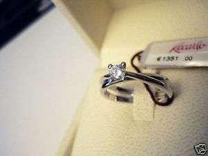 Anello Recarlo oro bianco diamante solitario Ct 0,235 G