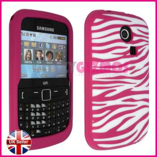 PINK SILICONE GEL CASE COVER FOR SAMSUNG CHAT S3350