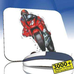 KOOLART 1090 Yamaha Max Biaggi 500 GP Fabric Mousemat