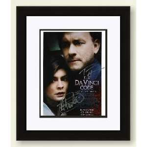 Tom Hanks and Audrey Tautou Autographed The DaVinci Code