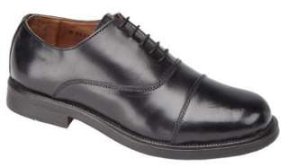 Mens Black Leather Cadet Shoes Siz 6 7 8 9 10 11 12