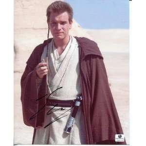 Ewan McGregor Star Wars Rare Signed Autograph Photo GA COA