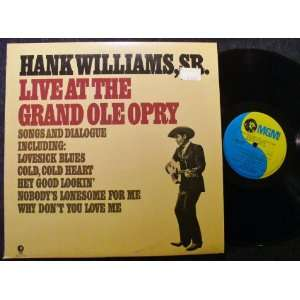 Hank Williams Sr. Live At the Grand Ole Opry Hank Williams Music