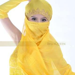 Bollywood Belly Dance Veil Head Scarf Indian CostumeA23