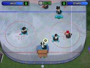 Backyard Hockey PC CD kids professional NHL teams sports ice skating