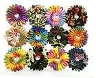 Wholesale 12PCS Crystal Centered Rainbow Flower Girl Baby Daisy Hair