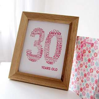 personalised birthday print by mrs l cards  notonthehighstreet