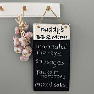 This personalised vintage style shabby chic wood chalkboard is our