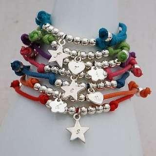 girls personalised silver friendship bracelet by indivijewels
