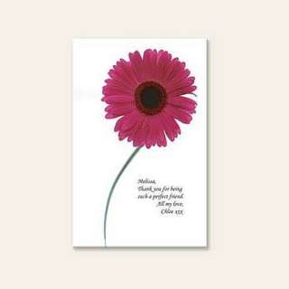 personalised mothers day flower canvas by the poetry studio
