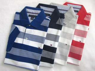 NWT Tommy Hilfiger Mens Classic Pique Stripe Polo