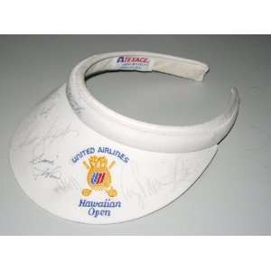 UNITED AIRLINES HAWAIIAN OPEN CLOTH SUN VISOR   SIGNED
