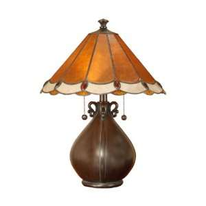 Dale Tiffany TT100950 Bungalow Table Lamp, Mica Bronze and