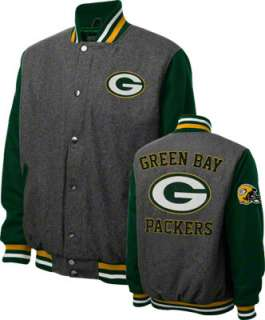 Green Bay Packers Grey Wool Varsity Jacket