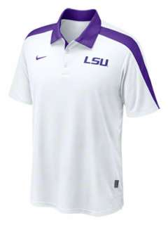 LSU Tigers White Nike Hot Route Football Coaches Sideline Polo Shirt