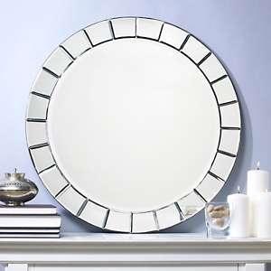Beveled Round Mirror