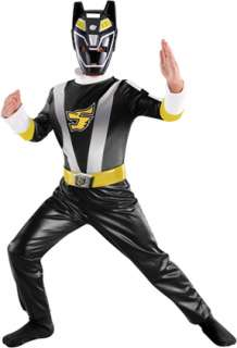 This Black Ranger costume from the Power Ranger RPM series includes