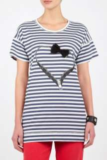 Sonia by Sonia Rykiel  Stripey Heart Bow T and Matching Shopper by