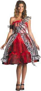 Alice In Wonderland   Alice Red Court Dress Adult Costume   Includes