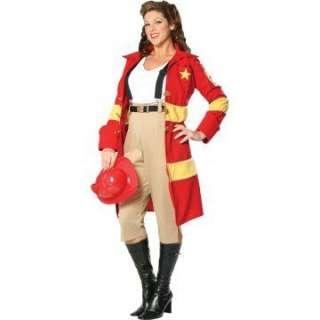 Fire Belle Plus Adult Costume   Includes Jacket, top, capri pants