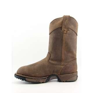 Rocky 5639 Aztec Mens SZ 10 Brown Boots Work Steel Toe Shoes