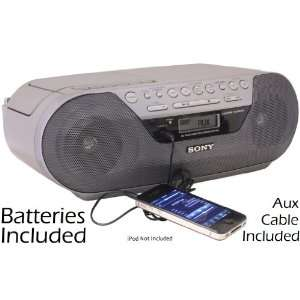 Sony Portable Digital Tuner AM/FM Radio Tape Cassette Recorder
