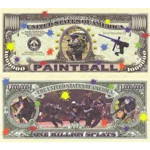 Set of 10 Bills Paintball Million Dollar Bill Toys & Games