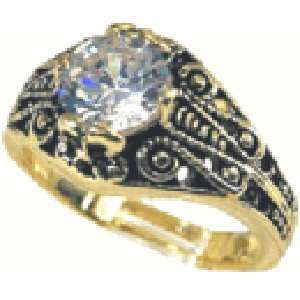 W 731 Ladies Solitaire Round Cut 1 Carat Stone Ring with Cubic