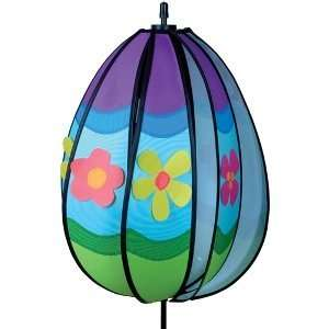 Easter Flowers Egg Decorated Easter Egg Wind Spinner
