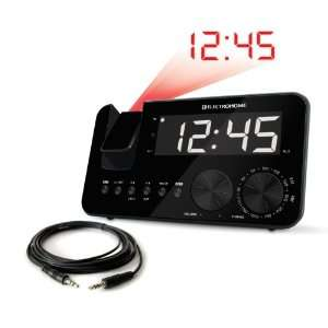 Electrohome AM/FM Projection Clock Radio with WakeUp! Battery