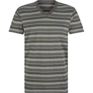 BLUE CROWN Sport Stripe Mens V Neck T Shirt 158516200  solid & stripe