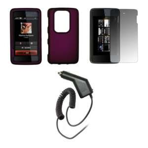 N900   Premium Purple Rubberized Snap On Cover Hard Case Cell Phone