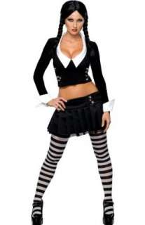 Wednesday Addams Goth School Girl Halloween Costume: Clothing