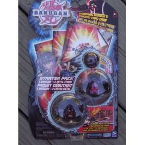 Bakugan Battle Brawlers Black Purple Starter Pack Gorem