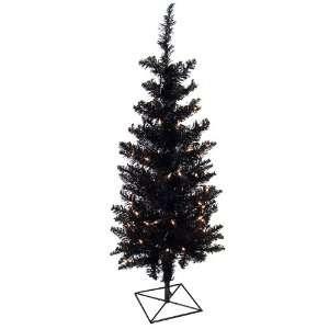 3 Pre Lit Black Ashley Spruce Artificial Christmas Tree