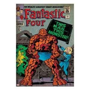 Marvel Comics Retro Fantastic Four Family Comic Book