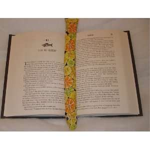 Citrus Fruit Booksnake: A Handmade Weighted Bookmark    the Perfect