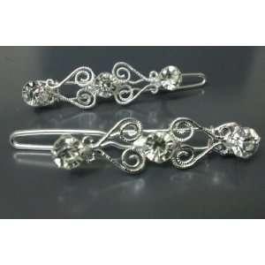 Rhinestone Crystal Bridal Hair Accessories   1 pair