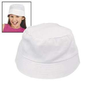 Design Your Own Childs White Bucket Hats   Craft Kits