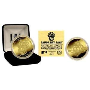 Rays 08 American League Champions 24KT Gold Coin Sports & Outdoors