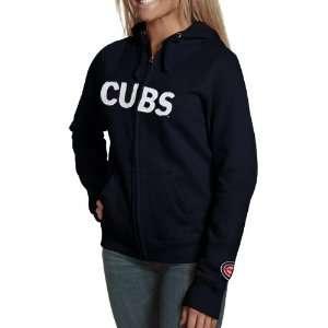 Chicago Cubs Navy Blue Team Spirit Full Zip Hoodie