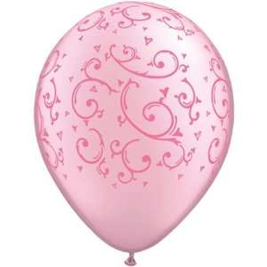 Mothers Day Balloons 11 Filigree & Hearts Pink: Toys